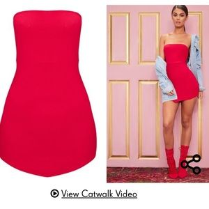 Pretty Little Thing Red Bodycon Dress